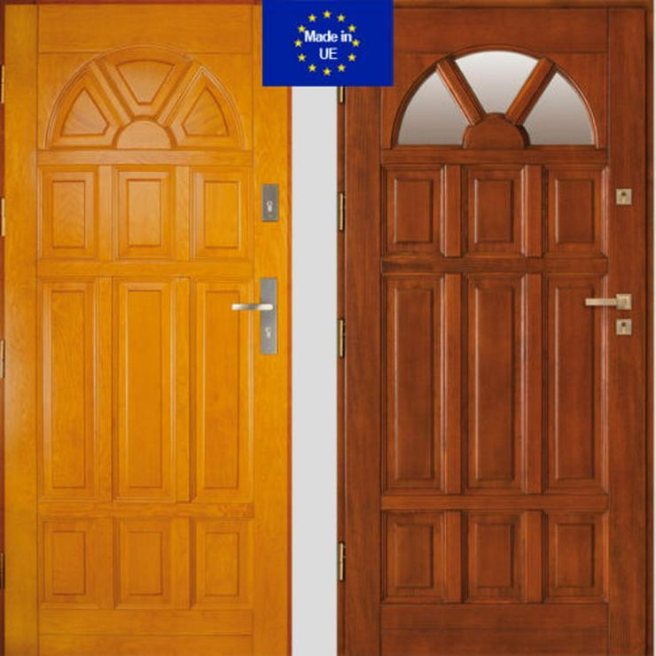 Holzaußentüren DZ4/DZ41 Haustür Eingangstür Holztür 60/70/80/90/100 6 Farben  - Türen - Bild 1