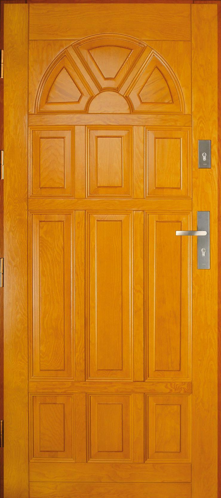 Bild 3: Holzaußentüren DZ4/DZ41 Haustür Eingangstür Holztür 60/70/80/90/100 6 Farben