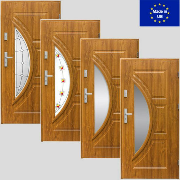 Tür Haustür Eingangstür Stahltür 80/90 Modern S1/S2/S3/S4 Weiß Verglasung - Türen - Bild 1