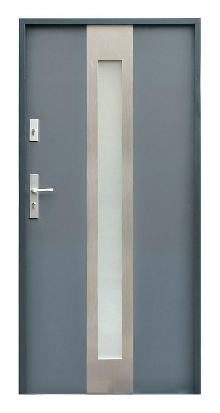 Bild 2: W11 Haustür Außentür Eingangstür Stahltür Inox doppelseitige Anthrazit Weiß