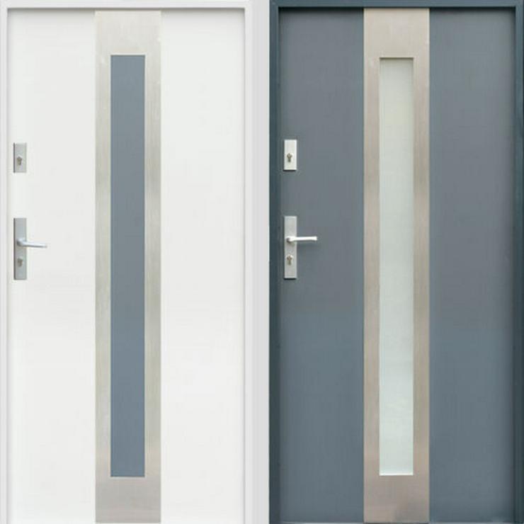 W11 Haustür Außentür Eingangstür Stahltür Inox doppelseitige Anthrazit Weiß - Türen - Bild 1