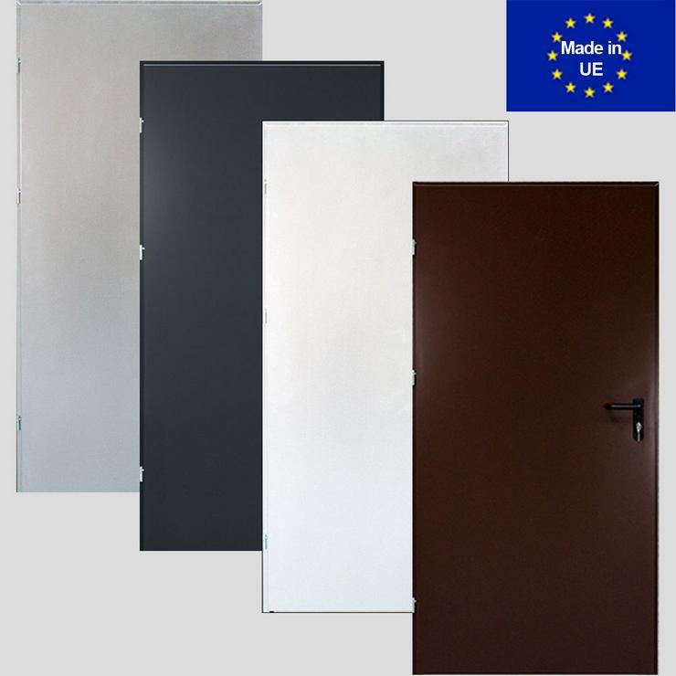 Tür Technische FERUM Eingangstür mit ohne Verglassung Scheibe 80 90 4 Farben - Türen - Bild 1