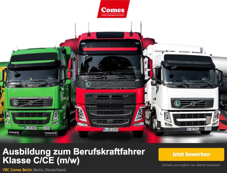 LKW C/CE Führerschein in 4 Monaten! Infotag 29.05.19 um 11.00 Uhr - LKW-Fahrer - Bild 1