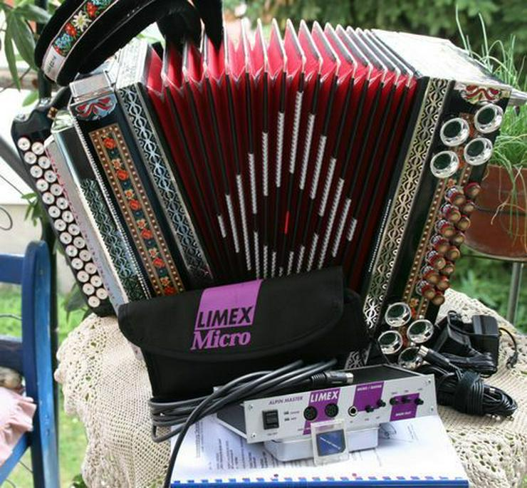Bild 2: Hause Kärntnerland Steirische Harmonika 4 reihig / 3 chörig mit Midi G-C-F-B