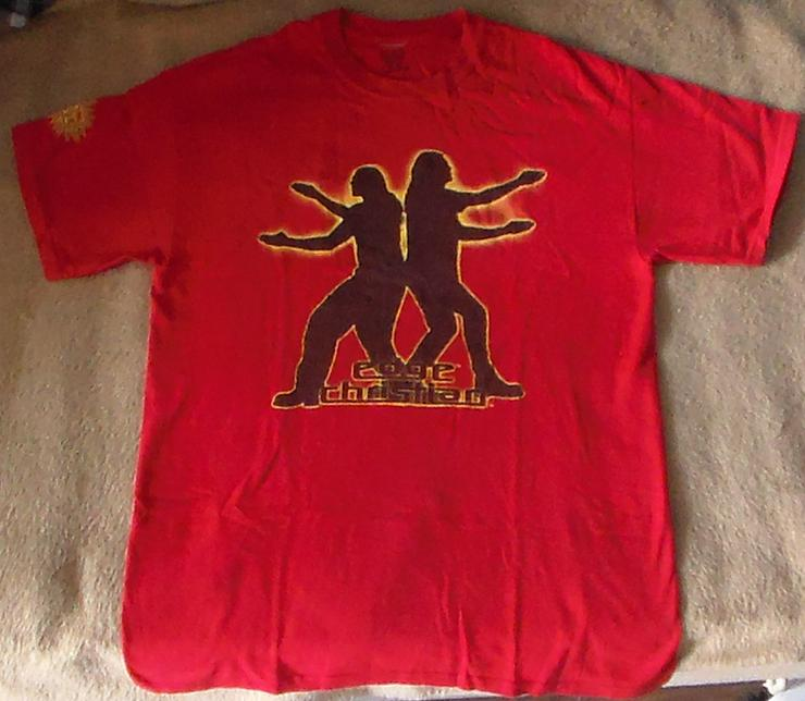 Edge & Christian T-shirt Positively Awesome offizielles WWE Merchandise Größe M Wrestling Wrestler