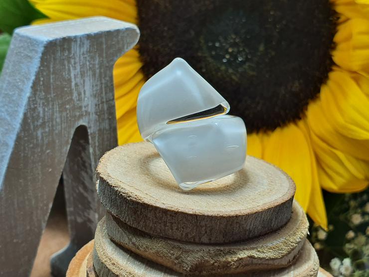 Spiralen Ring aus Muranoglas