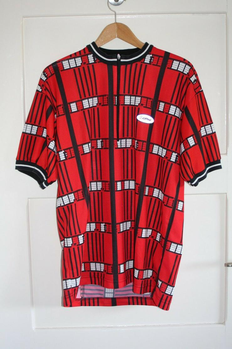 Vintage Löffler bike trikot rot Rad shirt jersey XL retro 56 Fahrrad 80er 90er