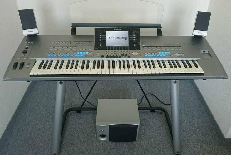 Bild 2: Keyboard Workstation Yamaha Tyros 5, 76 Tasten + Zubehör