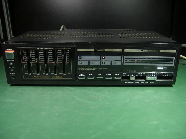 Fisher CA-60 Hifi Stereo Verstärker mit 5-fach- Equalizer