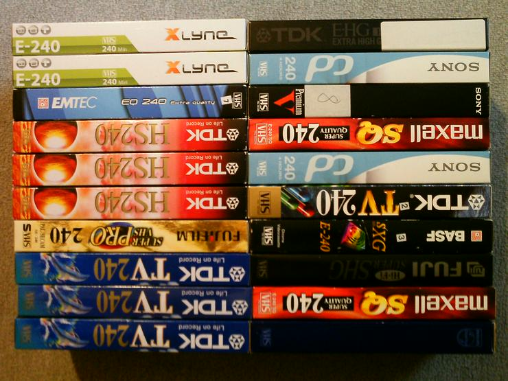 20 VHS Video Kassetten + 6 VHS Spielfilme - VHS-Kassetten - Bild 1