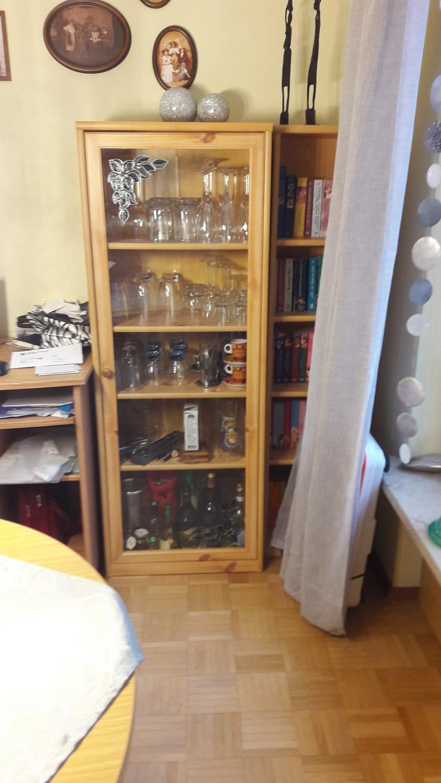 Wohnzimmer Glasvitrine / Highboard / Regal /