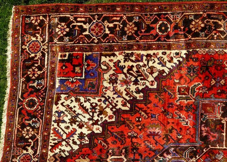 Bild 2: Orientteppich Heriz antik 348x235 (T095)