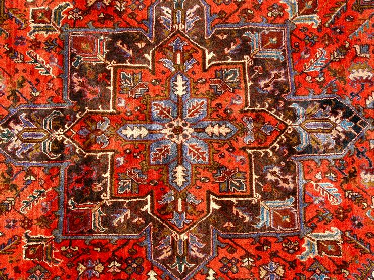 Bild 4: Orientteppich Heriz antik 348x235 (T095)