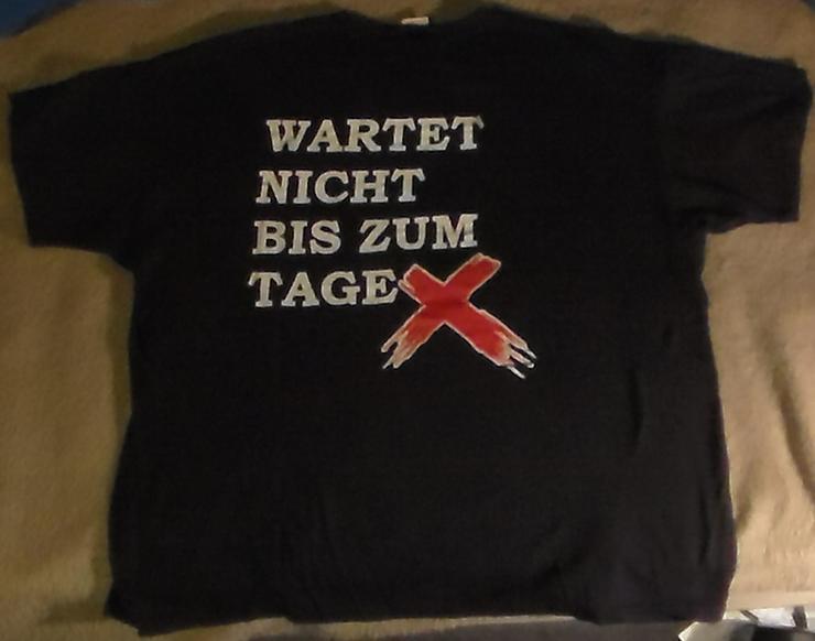 Bild 3: Anarchie T-Shirt Wartet nicht bis zum Tage X, Punk, Politik, Anti-System, Größe XL