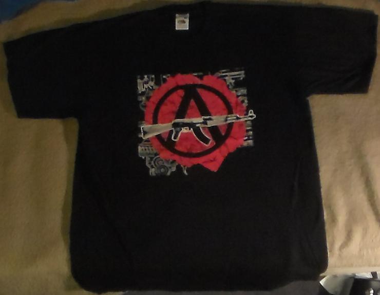 T-Shirt Anarchie AK 47 Punk, Anti-System, Politik, Größe L