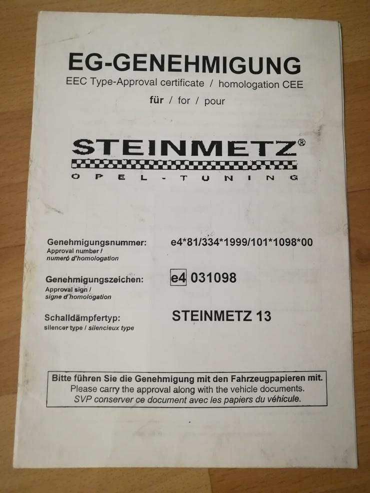 Bild 4: Opel Corsa C Steinmetz Sportauspuff
