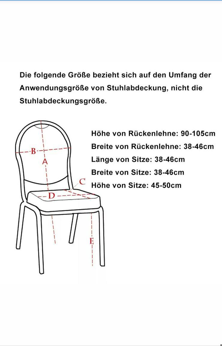 Bild 5: Stuhlhussenverleih inkl. Reinigung 1€/Stück