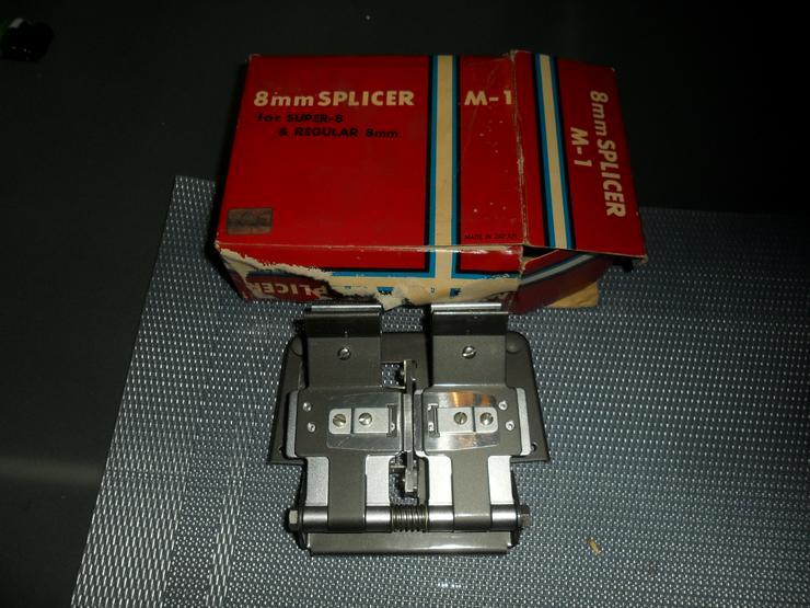 Bild 2: Alcron Klebepresse  Film Splicer Schneidegerät