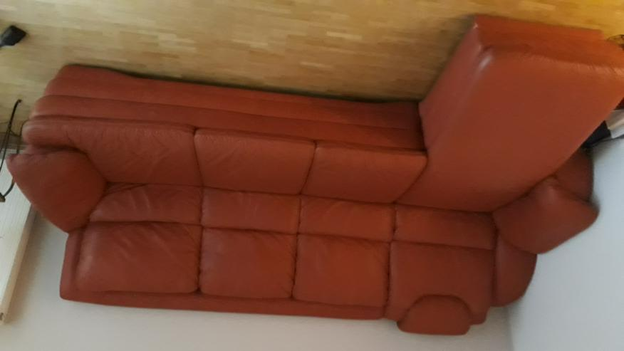 Himolla Ledercouch 3-Sitzer mit elekt. Chaiselongue - Sofas & Sitzmöbel - Bild 1