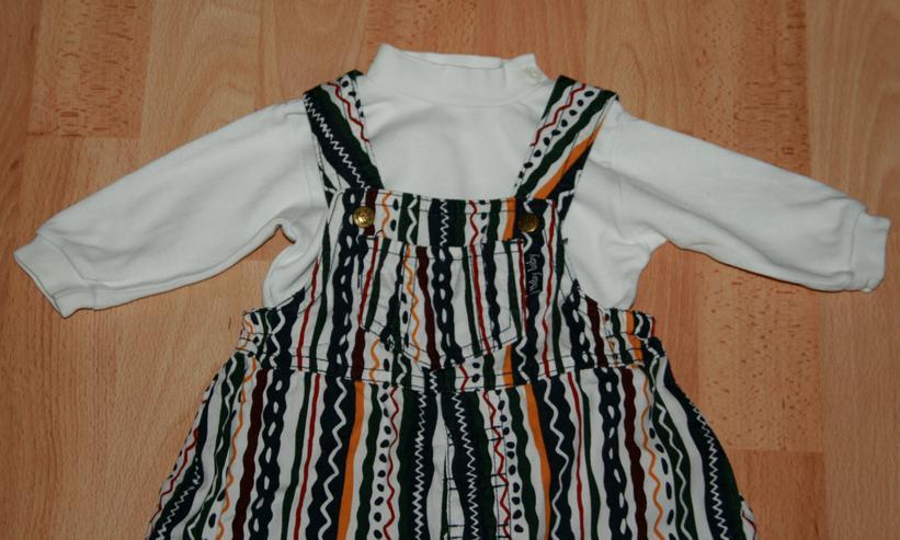 Bild 2: SET - Bunte Latz-Hose & Shirt- Größe 62 - 2teilige Kombination