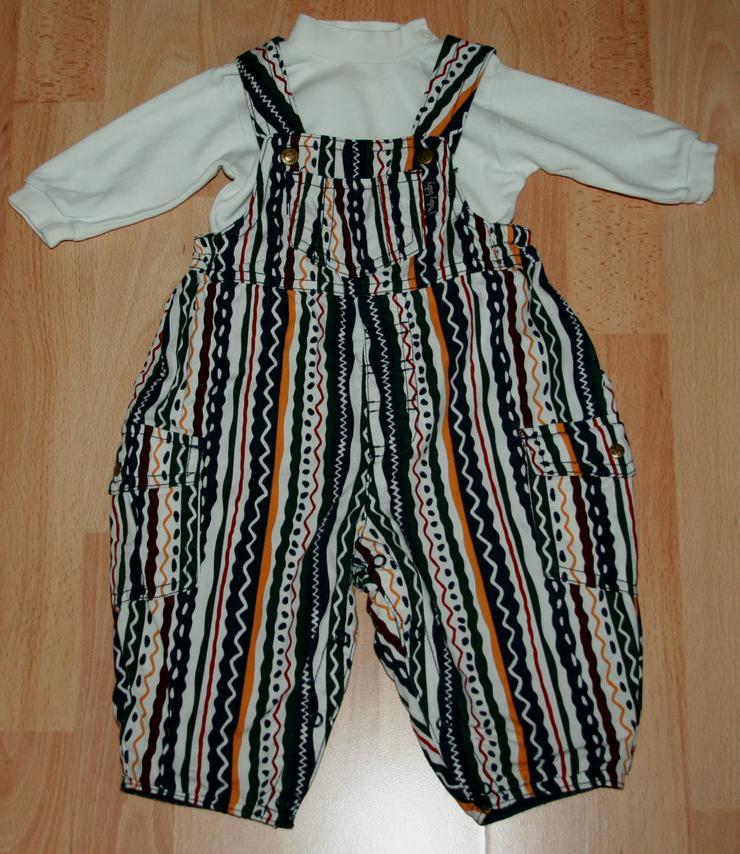 SET - Bunte Latz-Hose & Shirt- Größe 62 - 2teilige Kombination - Hosen - Bild 1