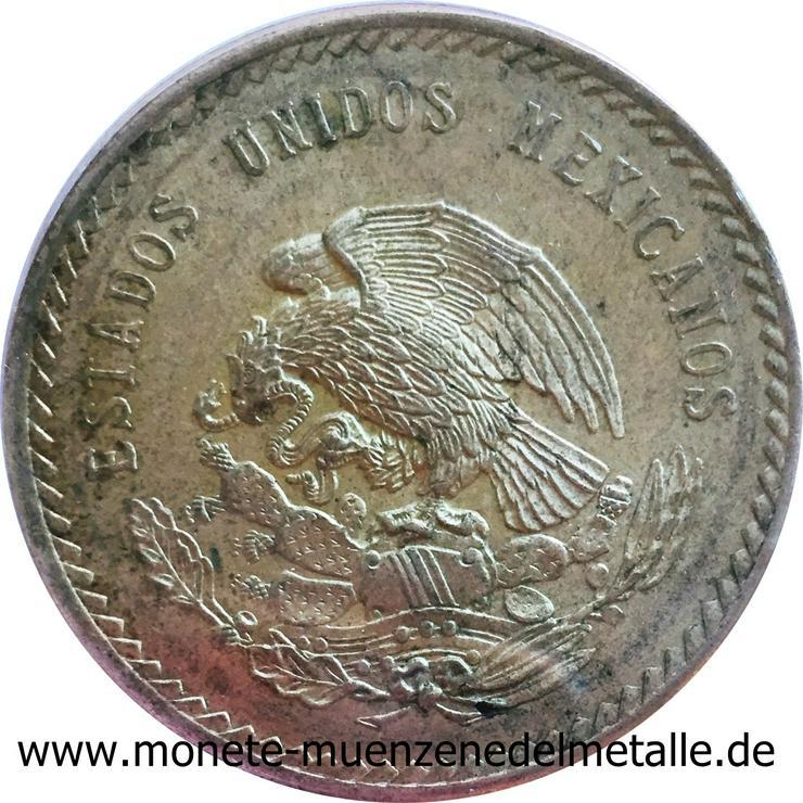 Bild 2: Mexiko 5 Pesos Cuauthemoc 1948 Silber Münze