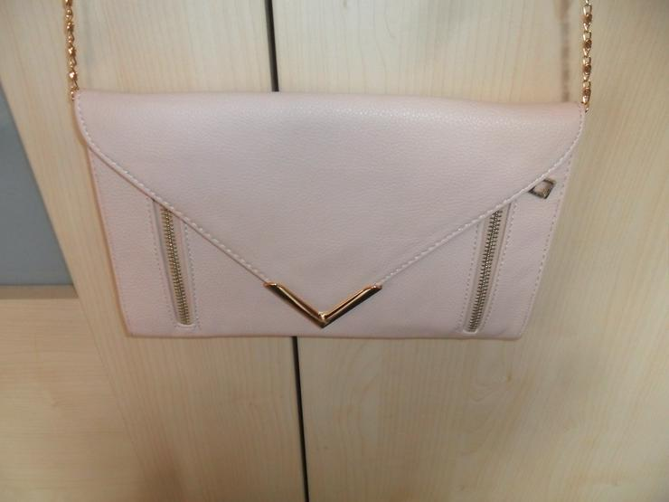Elegante Abendtasche Leder mit Goldkette   - Taschen & Rucksäcke - Bild 1
