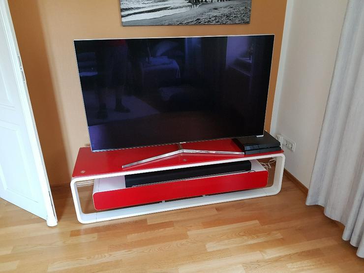 TV Lowboard, Glas-Metall, neuwertig