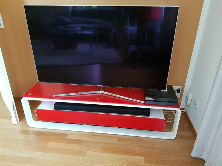 Bild 4: TV Lowboard, Glas-Metall, neuwertig