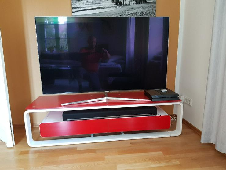 Bild 2: TV Lowboard, Glas-Metall, neuwertig