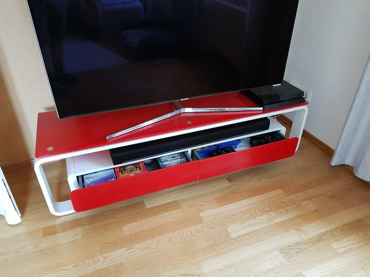 Bild 3: TV Lowboard, Glas-Metall, neuwertig