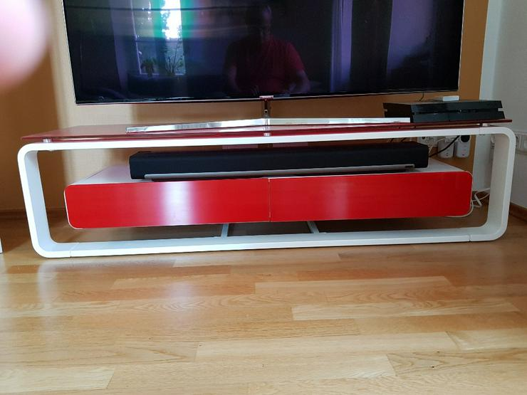 Bild 5: TV Lowboard, Glas-Metall, neuwertig