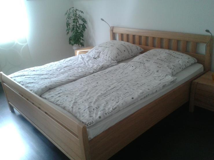 Hochwertiges Musterring-Bett Kernbuche funiert mit Lattenrost