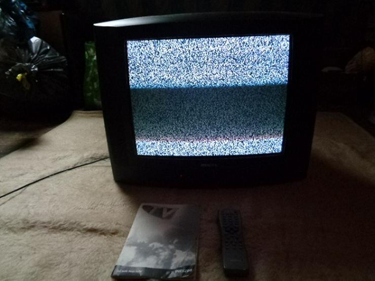 Bild 6: Sehr guter Fernseher PHILIPS mit Fernbedienung und Beschreibung  Er hat 2 Scart Anschlüsse