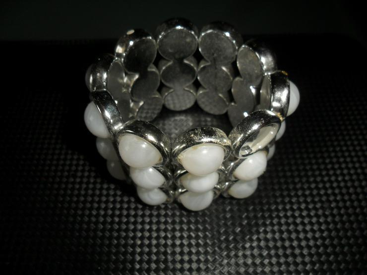 Bild 2: Tolles Armband  Silber mit weissen Steinen