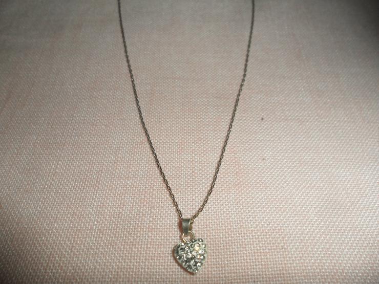 Bild 2: Halskette Rein Silber m. Herz  Rein Silber