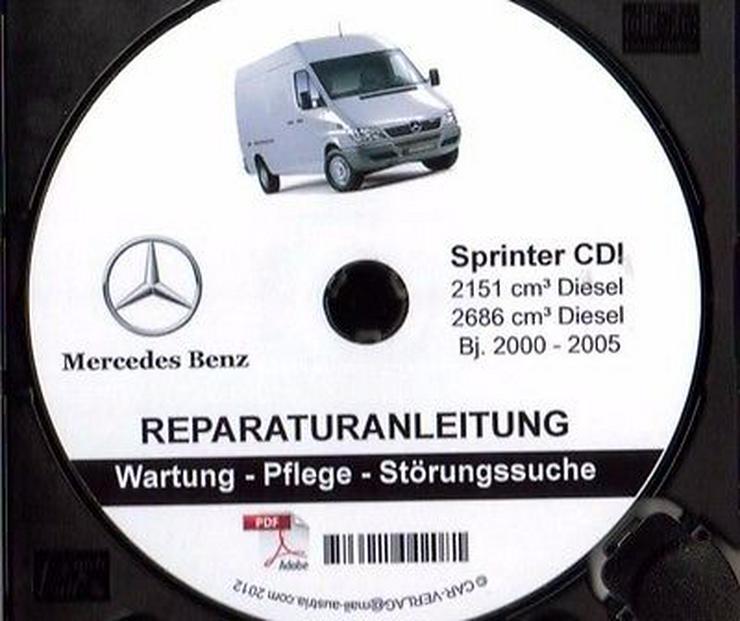 Mercedes Sprinter (901-905) Service PROFI-Werkstatt Reparatur CD 1998-2006 - Neueste Ausgabe!