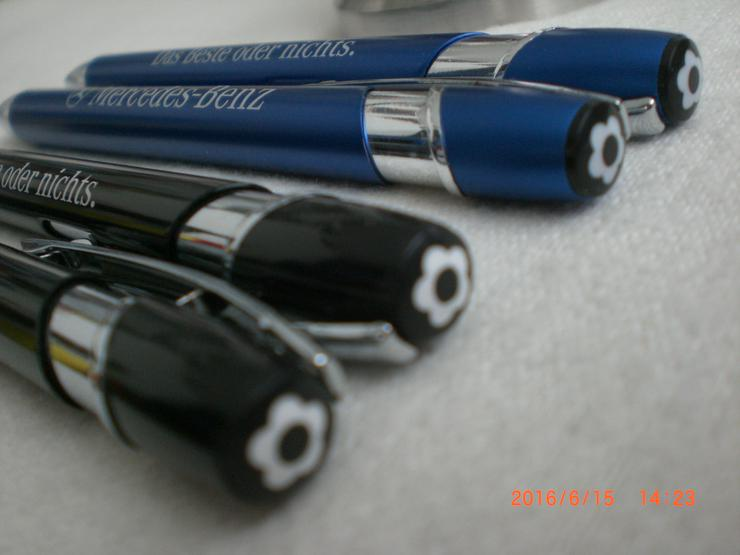 Bild 3: 5x Mercedes Metall Kugelschreiber mit echter Gravur 107 126 208 CLK 210 211 R129 230 SL SLK GL Viano