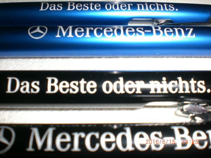 5x Mercedes Metall Kugelschreiber mit echter Gravur 107 126 208 CLK 210 211 R129 230 SL SLK GL Viano