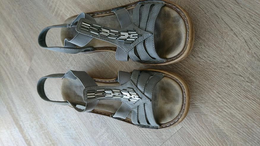 Rieker Sandale grau - Größe 42
