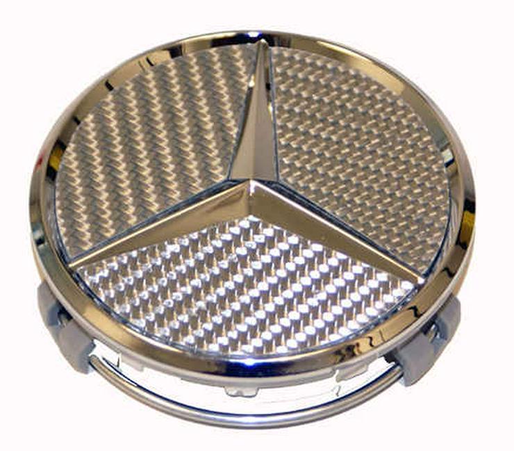 Bild 3: Mercedes AMG Lorinser Felgendeckel Nabenkappen Brabus 75mm NEUware Nabendeckel