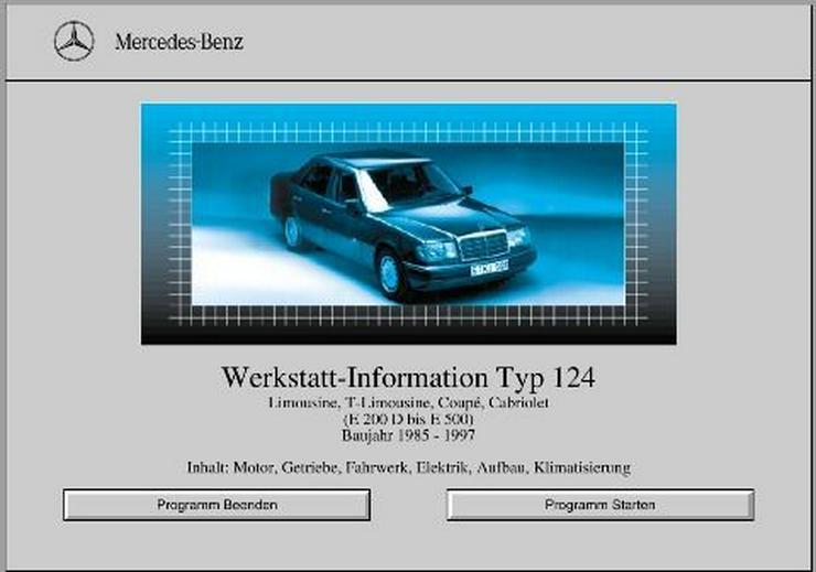 Bild 2: Mercedes 124 W124 Reparaturanleitung - Werkstatt Reparatur Service (Profi) CD - ALLE 1985 > 1997