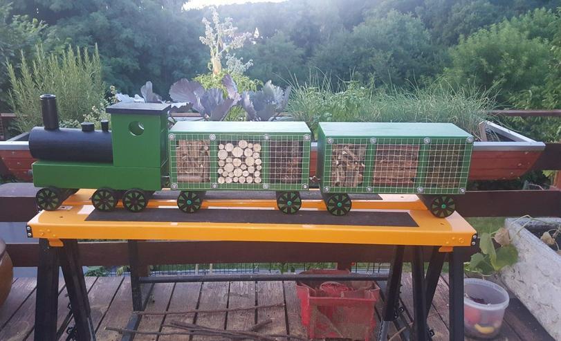 Bild 2: Insektenhotel in Zug Form mit Wagons