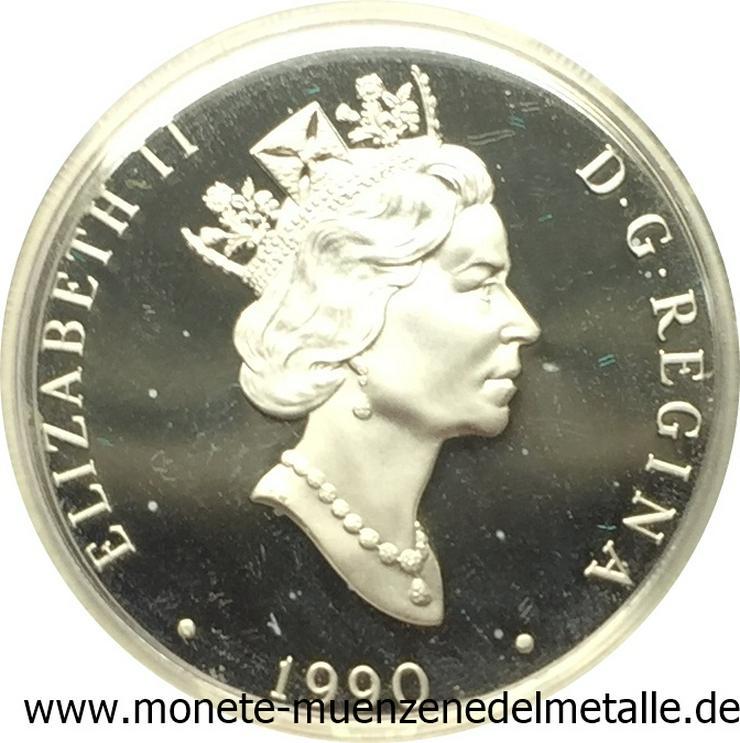 Bild 2: Kanada 20 Dollar Avro Flugzeug lancaster 1990 Gold 999  und silber 925 Münze