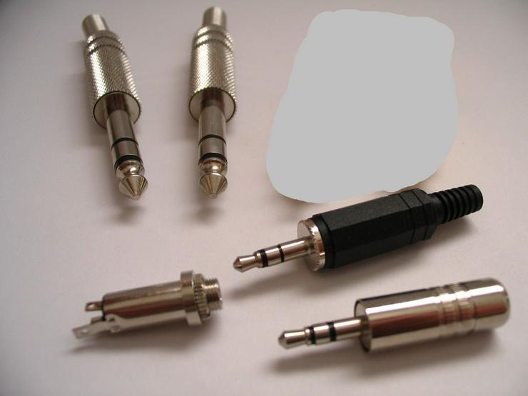 Klinken-Stecker Klinken-Einbaubuchsen - Kabel & Stecker - Bild 1