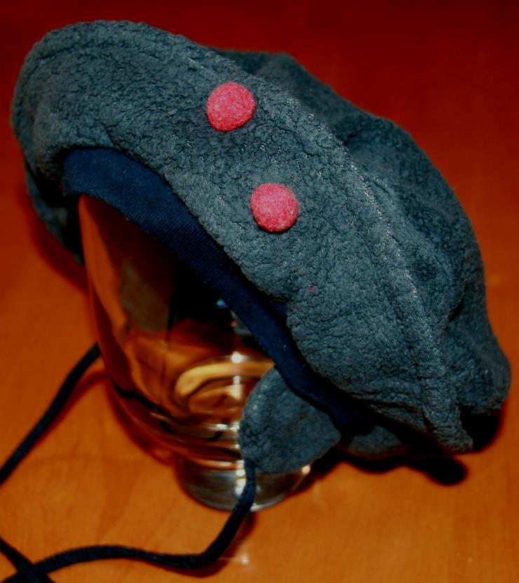 Grau-blaue Baby-Mütze - Size ca. 44 cm - Basken-Mütze - Fleece - Kopfbedeckungen - Bild 1