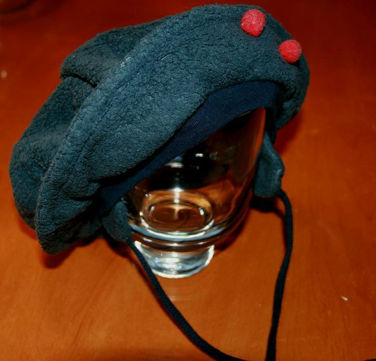 Bild 2: Grau-blaue Baby-Mütze - Size ca. 44 cm - Basken-Mütze - Fleece