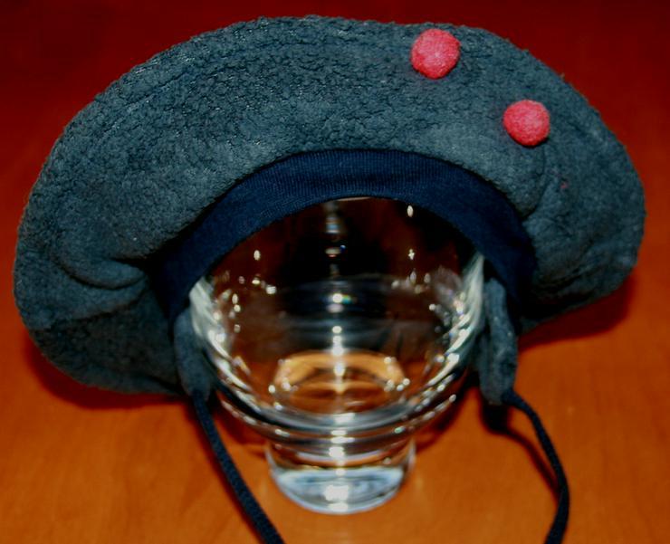 Bild 3: Grau-blaue Baby-Mütze - Size ca. 44 cm - Basken-Mütze - Fleece