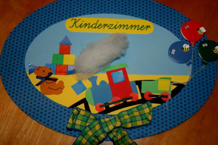 """Bild 2: Buntes Tür-Schild - """"Kinderzimmer"""" - 30 x 22 cm - für Kinder"""
