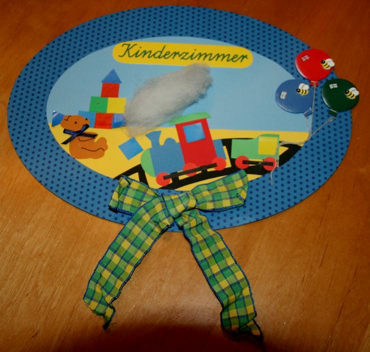 """Buntes Tür-Schild - """"Kinderzimmer"""" - 30 x 22 cm - für Kinder - Kompletteinrichtungen - Bild 1"""